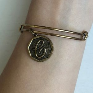 Alex and Ani Initial Letter 'C' Charm Bangle